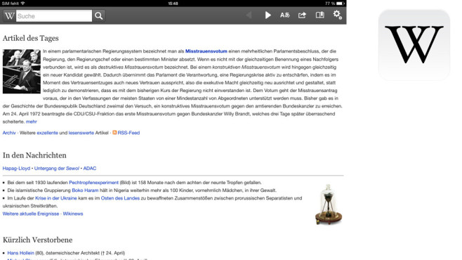 Wikipedia Mobile ©Wikimedia Foundation