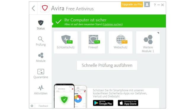 Avast, Avira und Kaspersky Free: Kostenloser Virenschutz ©COMPUTER BILD