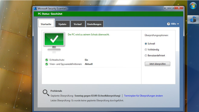 Microsoft Security Essentials: Virenschutz für Win7 © COMPUTER BILD