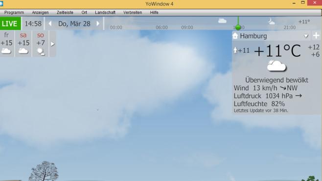 YoWindow: Wetterbericht abrufen ©COMPUTER BILD