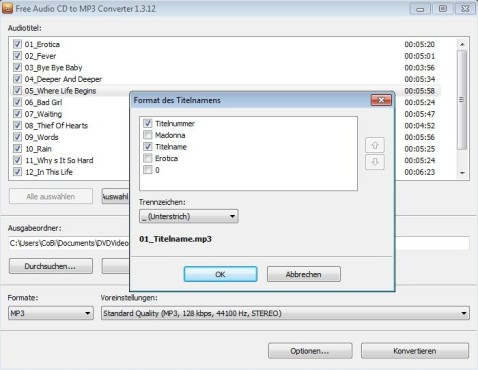 Free Audio CD to MP3 Converter ©COMPUTER BILD