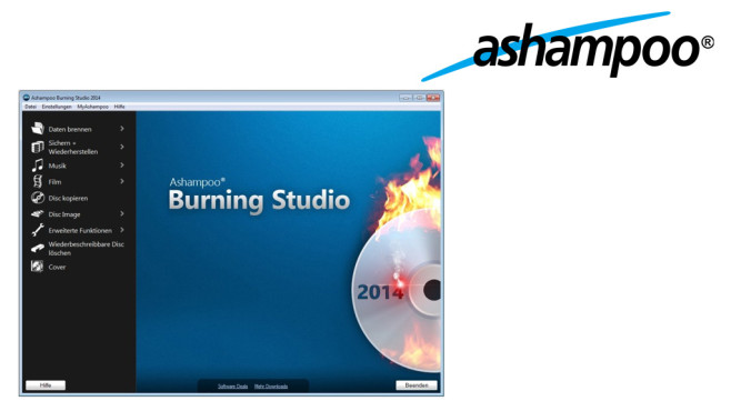 Ashampoo Burning Studio 2014 – Kostenlose Vollversion © Ashampoo
