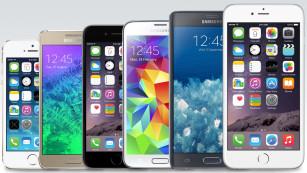 Größenvergleich Apple iPhone 6 Plus©Apple, Samsung/COMPUTER BILD