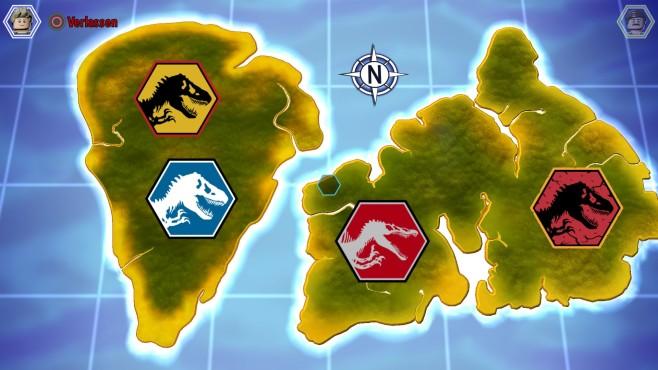 Lego Jurassic World: Landkarte©Warner Bros. Interactive