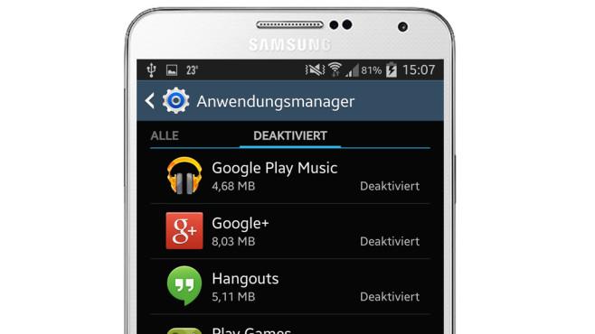 Samsung-Apps deaktivieren: So funktioniert es! ©COMPUTER BILD, Samsung