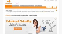 Webseite von Click and buy © Screenshot: clickandbuy.com