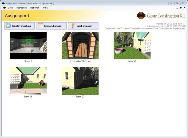 Screenshot 1 - Game Construction Kit