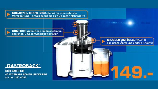 Gastroback Smart Health Juicer Pro (40137) ©Saturn