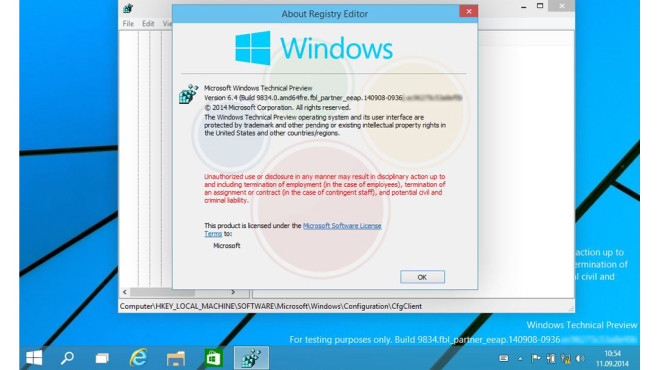 Windows Technical Preview © Winfuture