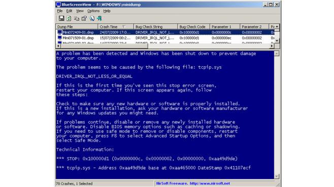 BlueScreens erscheinen: Bluescreen View ©COMPUTER BILD