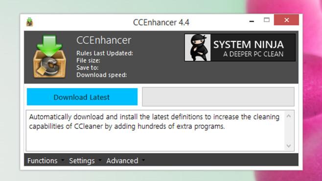 CCleaner findet zu wenig Müll: CCEnhancer ©COMPUTER BILD
