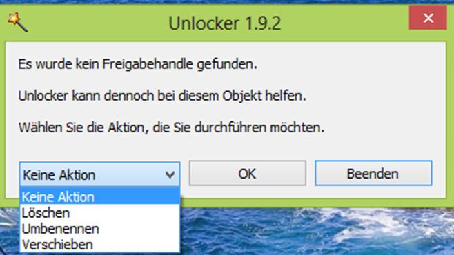 Datei nicht löschbar: Unlocker ©COMPUTER BILD