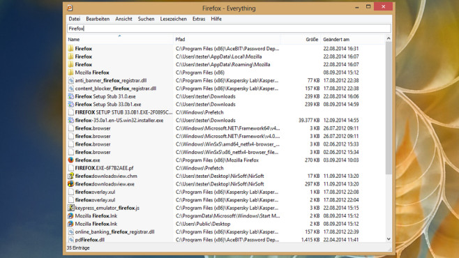 Datei nicht mehr auffindbar: Everything ©COMPUTER BILD