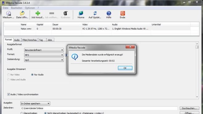 Falsches Multimedia-Format: XMedia Recode ©COMPUTER BILD