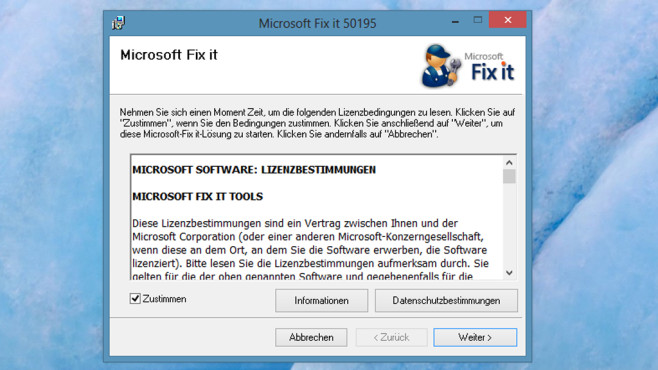 Internet Explorer defekt: Fix-it-Tool von Microsoft © COMPUTER BILD