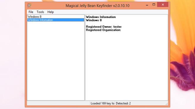 Seriennummer vergessen: Magical Jelly Bean Keyfinder ©COMPUTER BILD