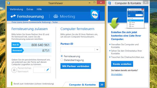 Sich von Freunden helfen lassen: TeamViewer ©COMPUTER BILD