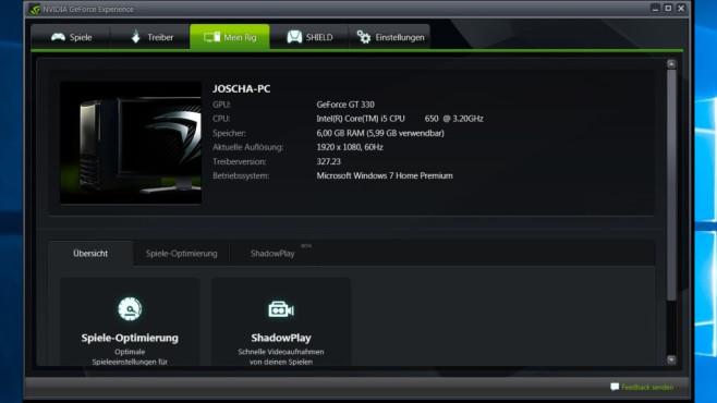 Ungünstige Spiele-Einstellungen: Nvidia GeForce Experience ©COMPUTER BILD