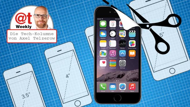 iPhone-6-Schablone©mallinka1 - Fotolia.com, Julydfg - Fotolia.com, Apple
