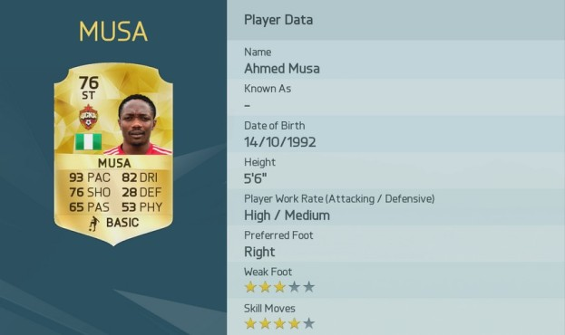 Ahmed Musa © Electronic Arts