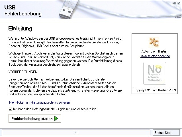 Screenshot 1 - USB-Troubleshooter