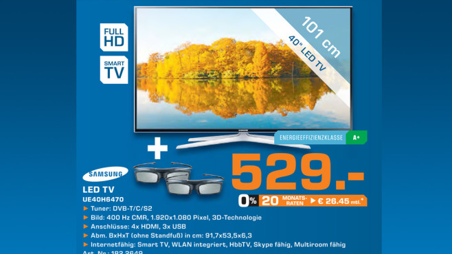 Samsung UE40H6470 ©Saturn