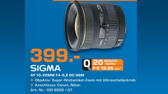 Sigma 10-20mm f4.0-5.6 EX DC HSM [Canon] ©Saturn