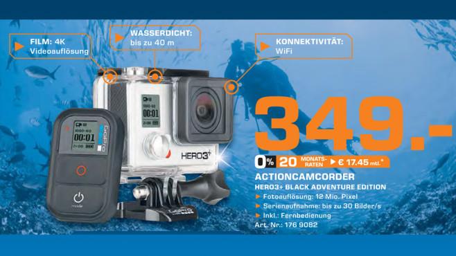 GoPro HERO3+ Black Edition Adventure ©Saturn