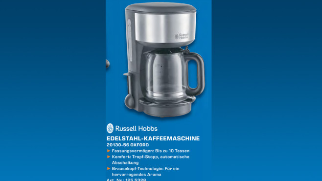 Russell Hobbs Oxford Glas-Kaffeemaschine ©Saturn