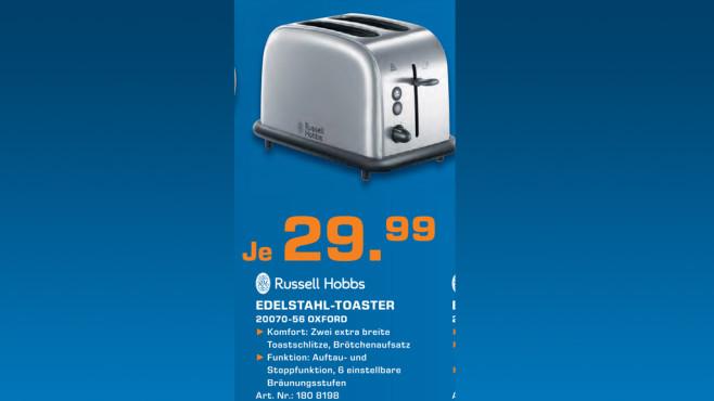 Russell Hobbs Oxford Toaster ©Saturn
