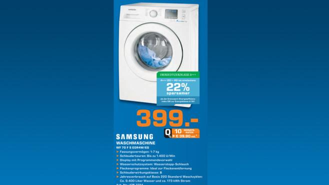Samsung WF70F5E0R4W ©Saturn
