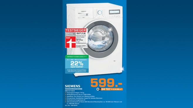 Siemens WM14Y54D ©Saturn