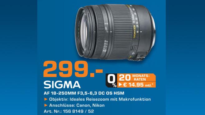 Sigma 18-250mm f3.5-6.3 DC Makro OS HSM ©Saturn
