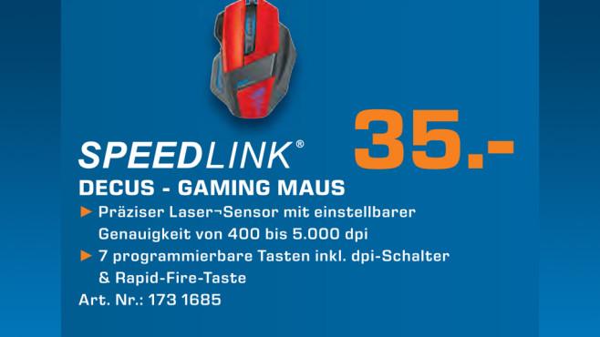 Speedlink Decus Gaming Maus ©Saturn