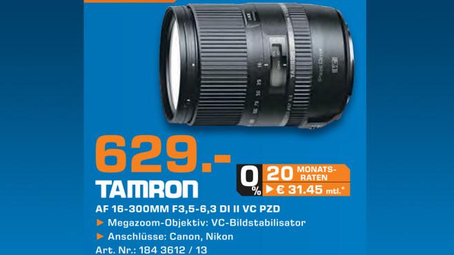 Tamron 16-300mm f3.5-6.3 Di II VC PZD Macro [Canon] ©Saturn