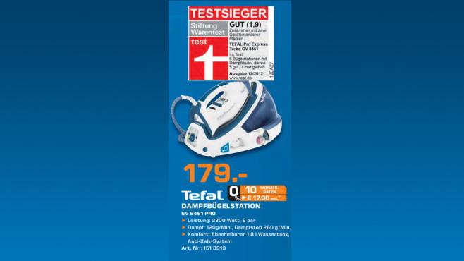 Tefal Pro Express Turbo Autoclean ©Saturn