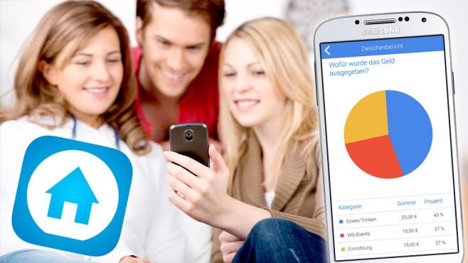 FlatMate: App für WG-Finanzen©MateApps GbR, contrastwerkstatt - Fotolia.com, Samsung