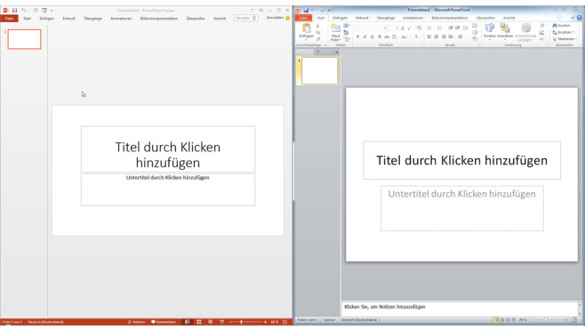 PowerPoint Preview vs 2010 © COMPUTER BILD