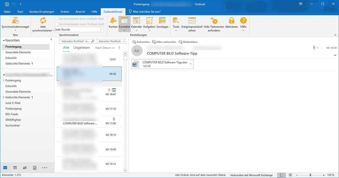 Screenshot 1 - Outlook4Gmail