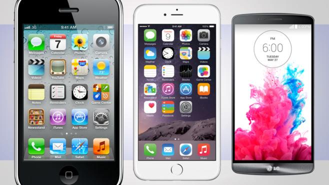 Smartphones mit viel Display-Fläche