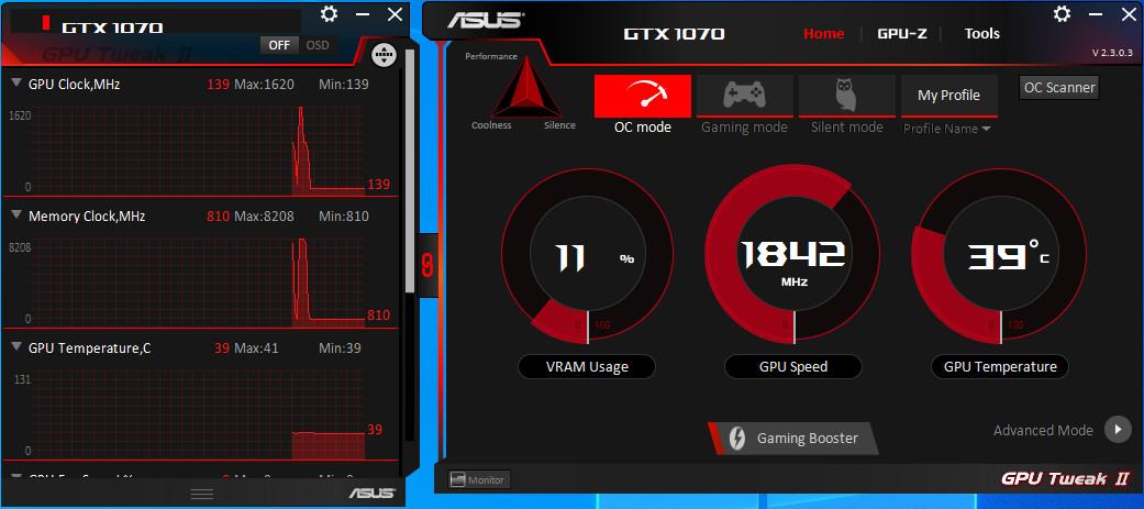 Screenshot 1 - Asus GPU Tweak II