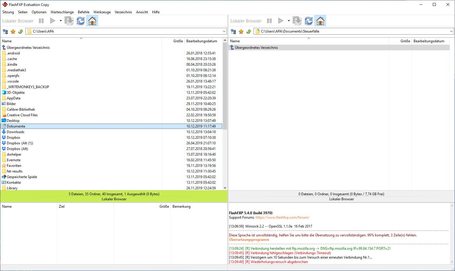 Screenshot 1 - FlashFXP