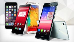 iPhone-Alternativen©Apple, OnePlus, Samsung, Huawei