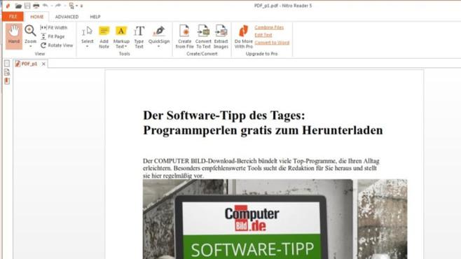 Adobe Reader, PDF-XChange Editor: PDF-Dokumente öffnen ©COMPUTER BILD