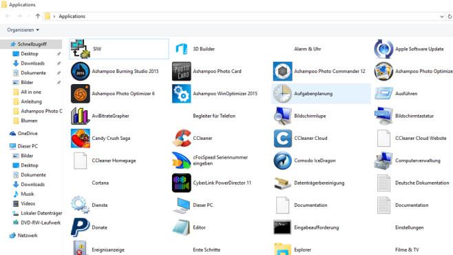 COMPUTER BILD-App-Starter: Alle Programme auflisten ©COMPUTER BILD