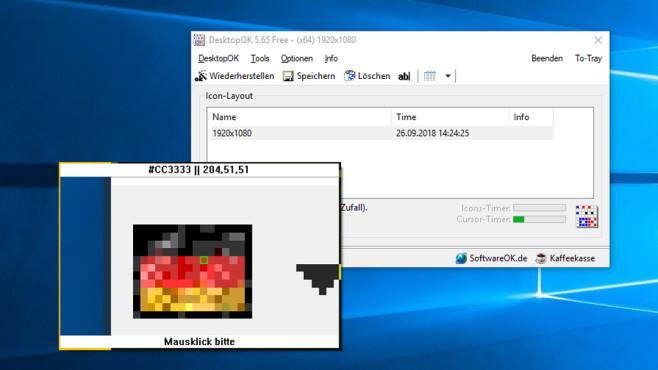 DesktopOK: Desktop-Symbole sichern ©COMPUTER BILD