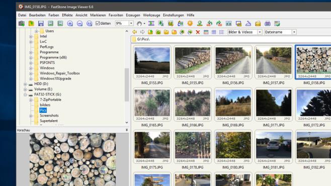 FastStone Image Viewer: Grafiken sichten und aufhellen ©COMPUTER BILD