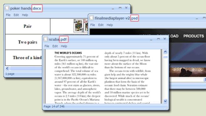 FreeFileViewer: Dateien aller Art öffnen ©FreeFileViewer