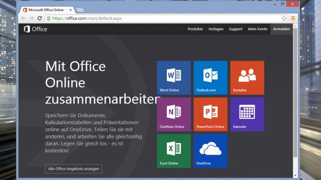 Microsoft Office Online: Büro-Suite im Browser ©COMPUTER BILD