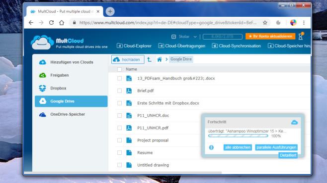 MultCloud: Cloud-Dienste zusammenführen ©COMPUTER BILD